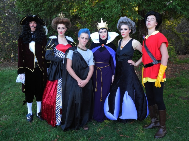 Captain Hook, Queen of Hearts, Hades, Wicked Queen, Ursula, Gaston - 2012